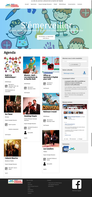 Landingpage du site cultureafeytiat.fr